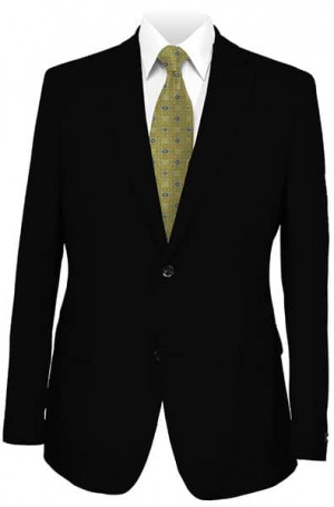 DKNY Black Diagonal Weave Tailored Fit  Suit 11Y0024