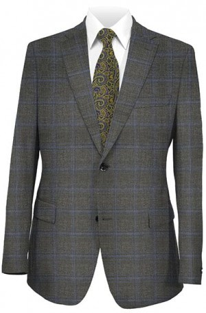 JB Gray Pattern Wool-Cashmere Suit #120633-3-1105