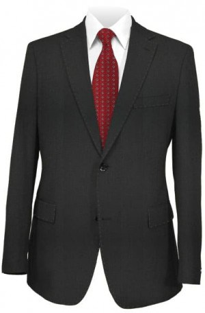 Blujacket Black Herringbone Tailored Fit Suit #121024