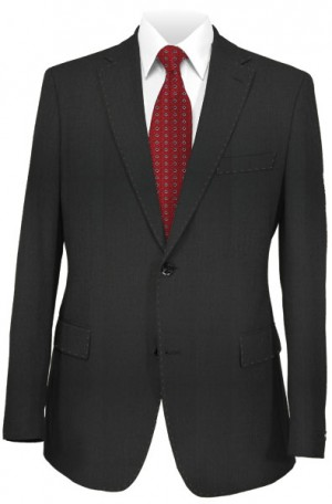 Blujacket Black Herringbone Tailored Fit Suit 121024