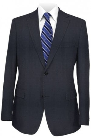Blujacket Navy Herringbone Tailored Fit Suit #121025