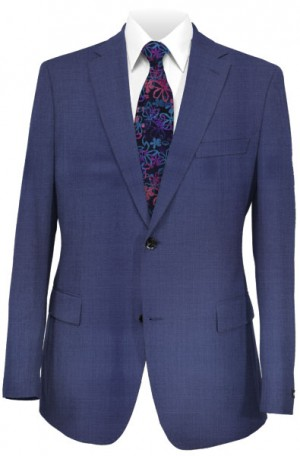 Blujacket Blue Pattern Tailored Fit Suit 121032