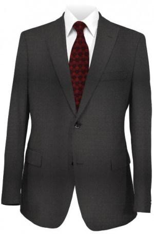 Varvatos Black Textured Weave Peak Lapel Slim Fit Suit #1234M