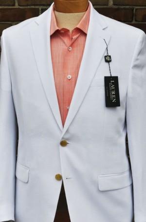 Ralph Lauren White Seersucker Suit #12VV0000