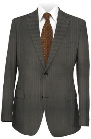 DKNY Black Double Stripe Tailored Fit Suit 12Y0157