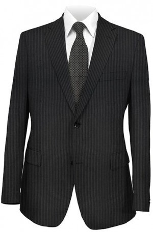 DKNY Midnight Blue Stripe Tailored Fit Suit 12Y0288