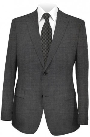 DKNY Gray Micro-Check Tailored Fit Suit 12Y0353