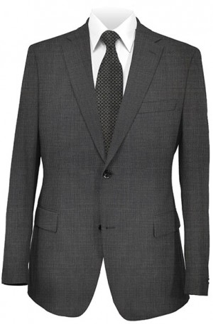 DKNY Gray Micro-Check Tailored Fit Suit #12Y0353
