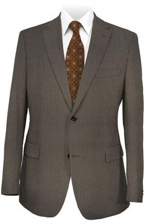 "DKNY Brown 'Birdseye"" Weave Tailored Fit Suit 12Y0545"