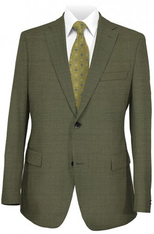 DKNY Light Olive Slim Fit Suit #12Y0589