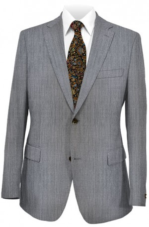 DKNY Gray Sharkskin Slim Fit Suit #12Y0625