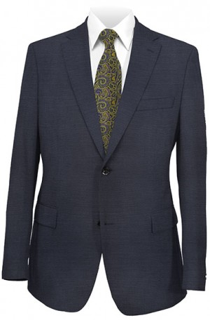 DKNY Navy Tone-on-Tone Slim Fit Suit #12Y0635