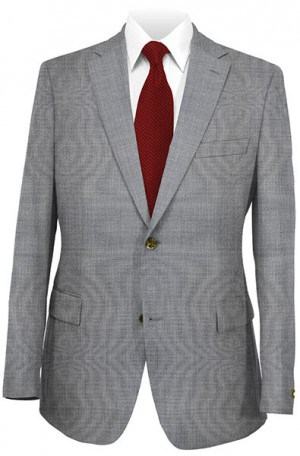 DKNY Gray Tick/Pindot Tailored Fit Suit 12Y0760