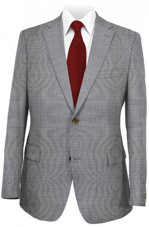DKNY Gray Tick-Pindot Tailored Fit Suit #12Y0760