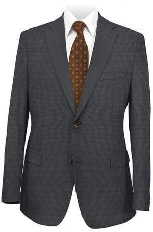 DKNY Charcoal Tick Weave-Pindot Slim Fit Suit 12Y0775
