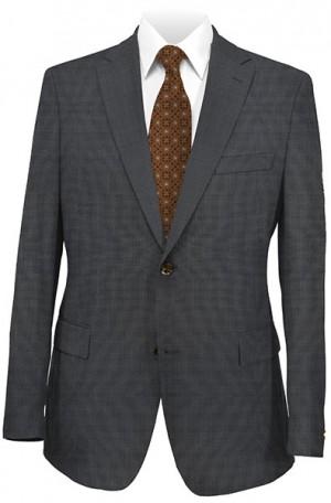 DKNY Charcoal Tick Weave-Pindot Slim Fit Suit #12Y0775