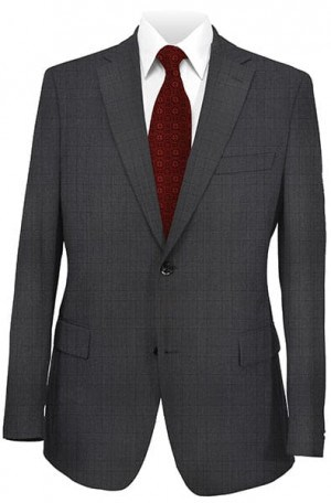 DKNY Charcoal Pattern Slim Fit Suit 12Y0779
