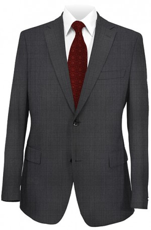 DKNY Charcoal Pattern Slim Fit Suit #12Y0779