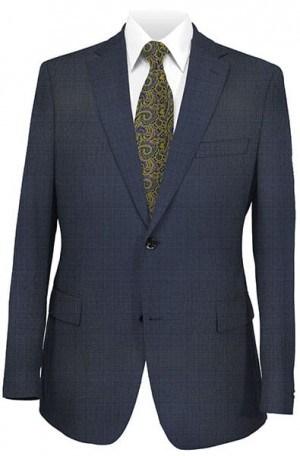 DKNY Navy Pattern Slim Fit Suit #12Y0779