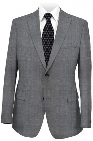 DKNY Gray Mini-Pattern Slim Fit Suit #12Y0807