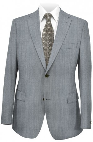 DKNY Bluish-Gray Slim Fit Suit #12Y0824