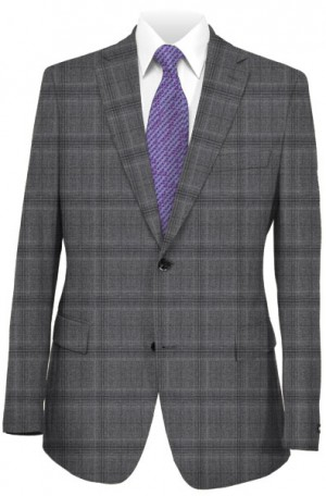DKNY Gray Windowpane Slim Fit Suit #12Y1111