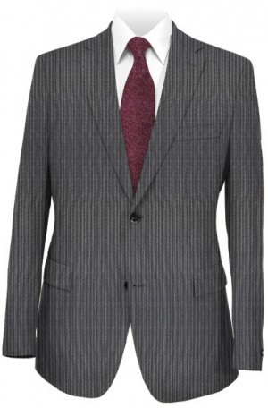 DKNY Gray Pinstripe Slim Fit Suit #12Y1112