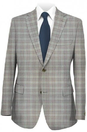 Jack Victor Tan Check Sportcoat #131208