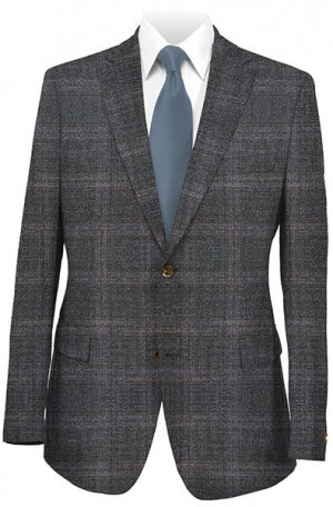 Jack Victor Charcoal Pattern Sportcoat #132305