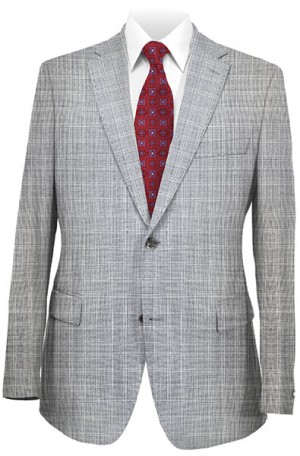 Betenly Gray Windowpane Tailored Fit Suit 141001