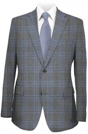 Betenly Blue Plaid Tailored Fit Suit #141015