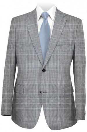 Betenly Gray Plaid Tailored Fit Suit 141018