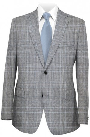 Betenly Gray Plaid Tailored Fit Suit #141018