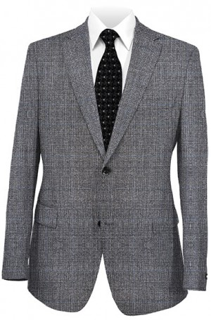 Betenly Gray Plaid Tailored Fit Suit 142001