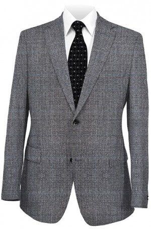 Betenly Gray Plaid Tailored Fit Suit #142001