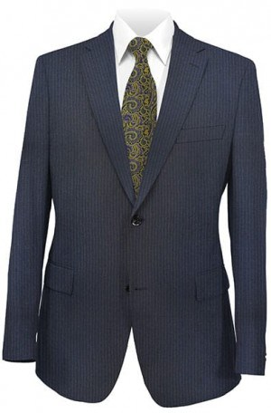 Betenly Navy Stripe Tailored Fit Suit #142018