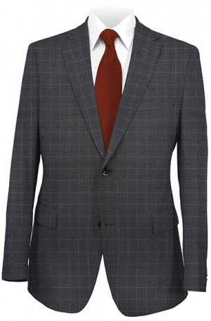 Betenly Black Pattern Tailored Fit Suit 142020
