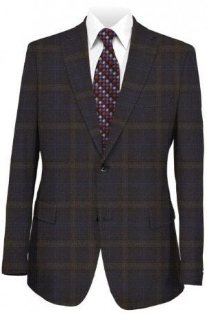 Blujacket Blue and Gray Pattern Sportcoat #142226
