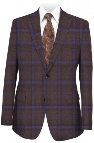 Blujacket Brown and Blue Pattern Sportcoat #142227