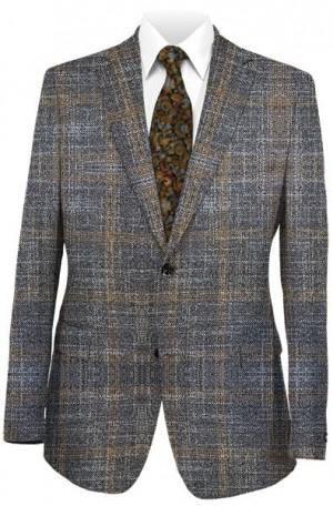 Jack Victor Gray & Brown Pattern Sportcoat #142305