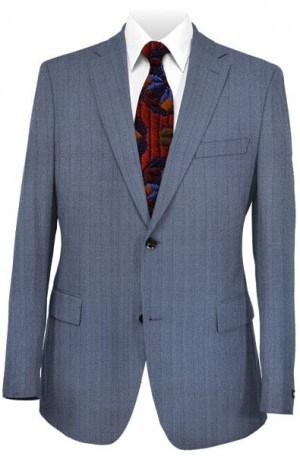 Hart Schaffner Marx Navy Shadow Stripe Suit #148-221132-193
