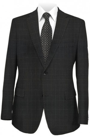 Betenly Black Pattern Tailored Fit Suit #151016