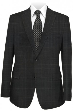 Betenly Black Pattern Tailored Fit Suit 151016