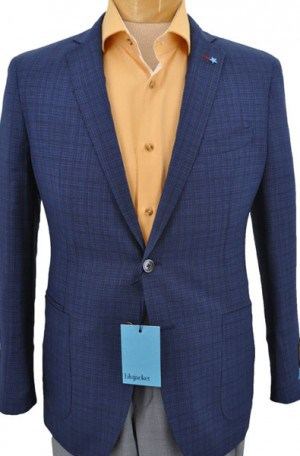 Blujacket Blue Pattern Slim Fit Sportcoat #152022