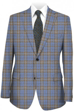 BluJacket Light Blue & Tan Tailored Fit Sportcoat #152268