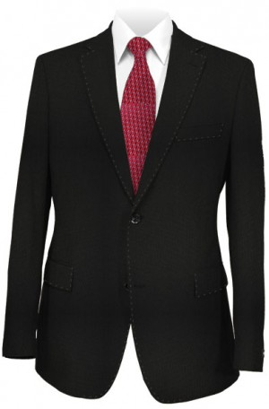 Canaletto Black Solid Color Tailored Fit Suit 1640-290