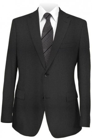 Calvin Klein Black Herringbone Suit Package