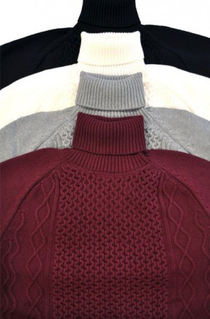 """Stockholm"" Light Gray Turtleneck Sweater #1802-LGRN"