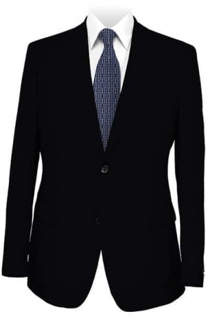 Armani Black Solid Color Suit #18160-20