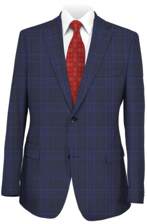 Canaletto Navy Windowpane Tailored Fit Suit #1861380-1